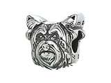 Zable™ Sterling Silver Dog Breed-yorkie Bead / Charm