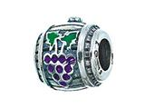 Zable™ Sterling Silver Wine Barrel Pandora Compatible Bead / Charm style: BZ2111
