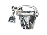 Zable™ Sterling Silver Pail and Shovel Pandora Compatible Bead / Charm style: BZ2120