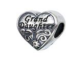 Zable™ Sterling Silver Granddaughter Pandora Compatible Bead / Charm style: BZ2128
