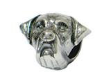 Zable Sterling Silver Rottweiler Bead / Charm