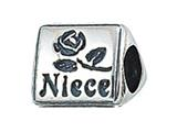 Zable™ Sterling Silver Niece Pandora Compatible Bead / Charm style: BZ2173