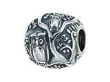 Zable Sterling Silver Owls In Tree Bead / Charm