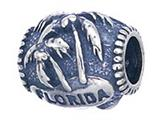 Zable Sterling Silver Florida Palm Trees Pandora Compatible Bead / Charm