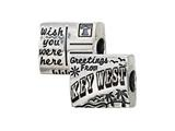 Zable™ Sterling Silver Key West Postcard Bead / Charm style: BZ2189