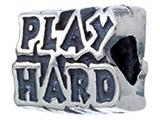 Zable Sterling Silver Work Hard/play Hard Bead / Charm