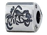 Zable™ Sterling Silver Biker Chick Bead / Charm