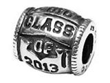 Zable™ Sterling Silver Class Of 2013 Bead / Charm style: BZ2235