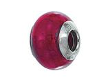 Zable™ Sterling Silver Murano Glass Birthstone January Pandora Compatible Bead / Charm