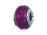 Zable™ Sterling Silver Murano Glass Birthstone February Pandora Compatible Bead / Charm style: BZ4002