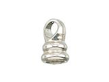 Zable Sterling Silver Threaded End Piece For Smart Bracelet Bead / Charm
