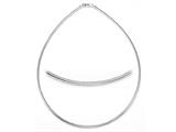 Zable™ Sterling Silver Round Omega Necklace 18 inches for use with Beads