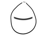 Zable™ Sterling Silver 3Mm Rubber Necklace 18 inches for use with Pandora Compatible Beads style: BZB261