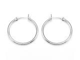 Zable Sterling Silver Hoop Earrings 2x30mm for use with Bead / Charm