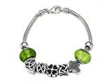Zable Sterling Silver Celtic Theme Bracelet with 7 Beads