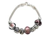 Zable™ Sterling Silver Bridal Theme Bracelet with 7 Beads