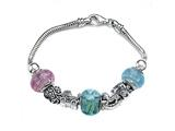Zable Sterling Silver Baby Shower Theme Bracelet with 7 Beads