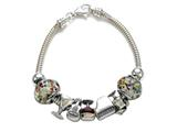 Zable Sterling Silver Happy Hour Theme Bracelet with 7 Beads