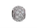 Zable Sterling Silver Pave CZ Spacer Bead / Charm