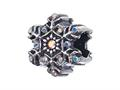 Zable™ Sterling Silver Snowflake With Crystals Bead / Charm