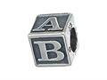 Zable Sterling Silver Baby Block Pandora Compatible Bead / Charm