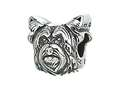 Zable™ Sterling Silver Dog Breed-yorkie Pandora Compatible Bead / Charm