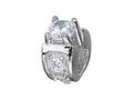 Zable™ Sterling Silver Engagement Ring Bead / Charm