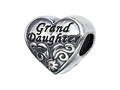 Zable Sterling Silver Granddaughter Pandora Compatible Bead / Charm