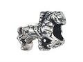 Zable™ Sterling Silver Carousel Horse Bead / Charm