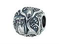 Zable™ Sterling Silver Owls In Tree Bead / Charm