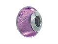 Zable Sterling Silver Murano Glass Birthstone June Pandora Compatible Bead / Charm