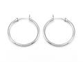 Zable™ Sterling Silver Hoop Earrings 2x30mm for use with Bead / Charm