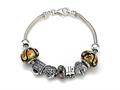 Zable Sterling Silver Birthday Theme Bracelet with 7 Beads