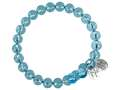 "Wind and Fire Earths Elements Collection ""water"" With Light Blue Swarovski Crystals"