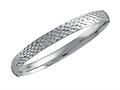 Stellar White™ Diamond Cut Bangle - Rhodium