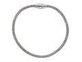 Stellar White Rhodium Mesh Bracelet Magnet 7.5 Inches