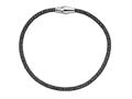Stellar White Black Rhodium Mesh Bracelet Magnet 7.5 Inches