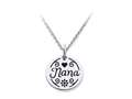 Stellar White™ 925 Sterling Silver Disc Charm - Nana -  Free 16 To 18 Inch Adjustable Chain Included