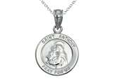 925 Sterling Silver Rhodium Small St. Anthony Medal Pendant Chain Included style: CG71026