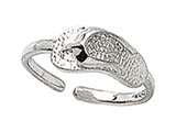 Sterling Silver Toe Ring Flip Flop style: CGSS300