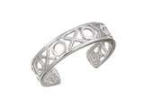 Sterling Silver Rhodium Finish Toe Ring X and O style: CGSS353