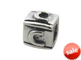 Zable™ Sterling Silver Block C-Letter Bead / Charm