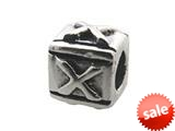 Zable™ Sterling Silver Block X-Letter Bead / Charm