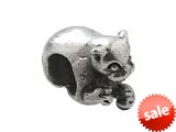 Zable™ Sterling Silver Cat Laying Bead / Charm style: BZ0206