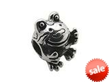 Zable™ Sterling Silver Frog Bead / Charm style: BZ0234