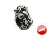 Zable™ Sterling Silver Horse Face Bead / Charm style: BZ0237