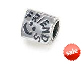"Zable™ Sterling Silver Triangular ""Friends"" Bead / Charm"