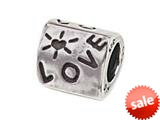 "Zable™ Sterling Silver Triangular ""Love"" Bead / Charm"