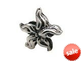Zable™ Sterling Silver Flower-Wavy Leaves Bead / Charm style: BZ0258