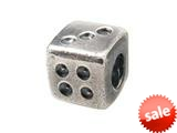Zable™ Sterling Silver Die Bead / Charm